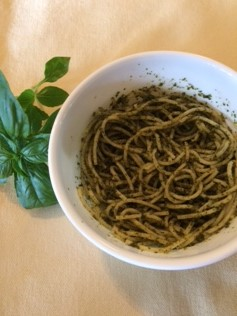 basil and noodles